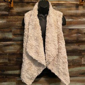 Melange faux fur vest Dylan by True Grit